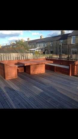Jardin de style de style Rustique par Pallet furniture uk