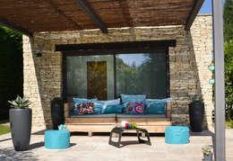 Canapé récup'lulu 2 modules tendance 2015: Maison de style  par Sandrine VEYRUNES-CLOAREC