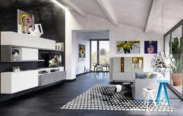 Salas/Recibidores de estilo moderno por Nespoli 3d