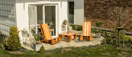 Balcon, Veranda & Terrasse de style de style Industriel par Sitzmoment Palettenmöbel