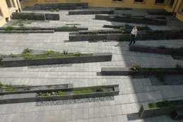 Cloître de l'Abbaye de Neumünster: Jardin de style de style Moderne par Digitale Paysage