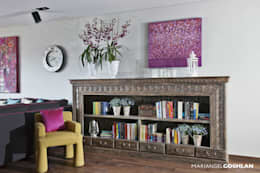 Estar familiar o family room: Sala multimedia de estilo  por MARIANGEL COGHLAN