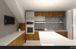 FAMILIA TGR: Cocinas de estilo moderno por GRH Interiores