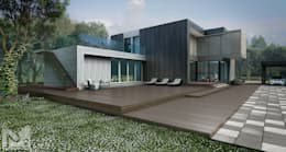 загородный дом 250м2: Дома в . Автор –  Aleksandr Zhydkov Architect