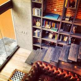 Salón: Salas de estilo moderno por Quinto Distrito Arquitectura