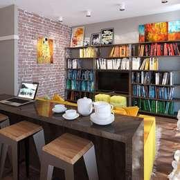 Квартира-студия в стиле Нью-Йорк, ЖК «Новопечерский двор»: Гостиная в . Автор – UKRINTEL