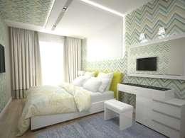 Projekty,  Sypialnia zaprojektowane przez PLANiUM