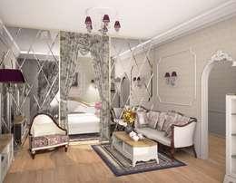 1-но комнатная квартира 61.15m²: Гостиная в . Автор – PLANiUM