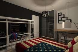 AMENAGEMENT INTERIEUR #007: Chambre de style de style Moderne par HOME LAB'