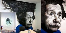 Projekty,  Domowe biuro i gabinet zaprojektowane przez Graffiti Kings