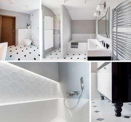 Dom jednorodzinny - Kraków.: styl , w kategorii Łazienka zaprojektowany przez PR Architects Sp z o. o. Pala&Rodek