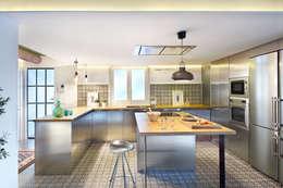 Cocinas de estilo moderno por Egue y Seta