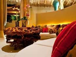 Casa Koi: Salas de estilo topical por BR  ARQUITECTOS