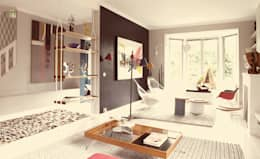 modern Living room by Ludlow Interior