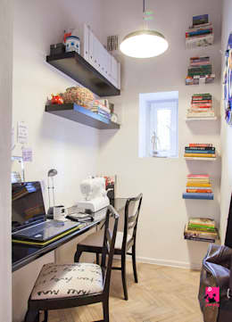 eclectic Study/office by Pink Pug Design Interior