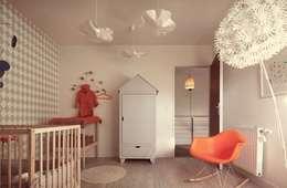Confidentiel: Chambre d'enfant de style de style Moderne par Ludlow Interior