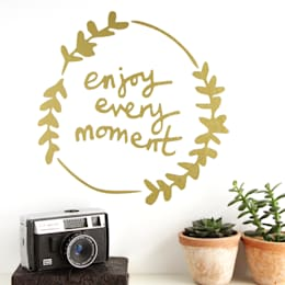 'Enjoy Every Moment' Wall Sticker:  Walls & flooring by Kutuu