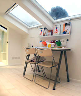 modern Nursery/kid's room by GK Architects Ltd