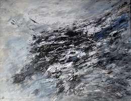 Encre de Chine et acrylique sur toile . Papier marouflé sur toile: Art de style  par Atelier Arnaud