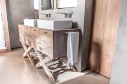 fuusta: rustik tarz tarz Banyo