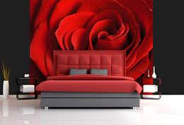 ARTMODEL – Rose - Kırmızı Gül Duvar Kağıdı (DVC-04): kırsal tarz tarz Duvar & Zemin