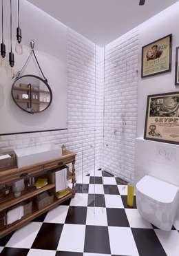 Mieszkanie na wynajem 31m2 Warszawa-Opcja II: styl , w kategorii Łazienka zaprojektowany przez The Vibe