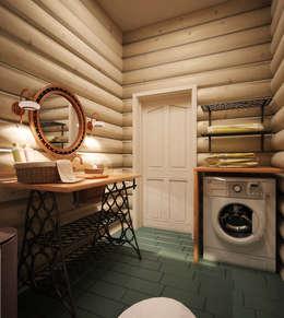 country Bathroom by Студия дизайна и декора Алины Кураковой