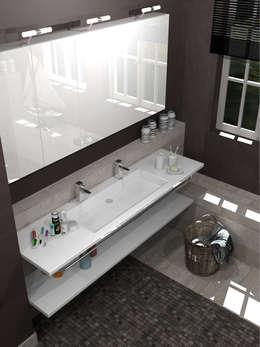 Salle de bains 2014: Salle de bains de style  par Architecture du bain