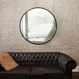 Зеркало Hub черное: Гостиная в . Автор – Enjoyme