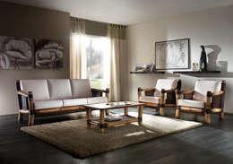 Rattania GmbH: akdeniz tarzı tarz Oturma Odası