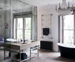 Antiqued Mirror Bathroom Panelling: classic Bathroom by Rupert Bevan Ltd