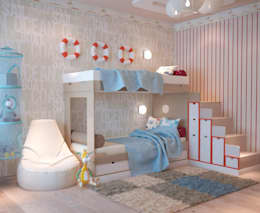 modern Nursery/kid's room by Студия дизайна Interior Design IDEAS