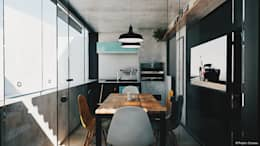 Área de Lazer Bonatto: Cozinhas industriais por 285 arquitetura e urbanismo