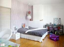 Agrandissement d'une chambre d'enfant: Chambre d'enfant de style de style Moderne par Emilie Bigorne, architecte d'intérieur CFAI
