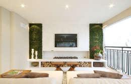 classic Media room by Chris Silveira & Arquitetos Associados