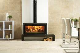 modern Living room تنفيذ Stovax Heating Group