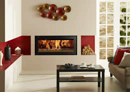 mediterranean Living room تنفيذ Stovax Heating Group