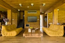 salon: styl , w kategorii Salon zaprojektowany przez CUBICPROJEKT