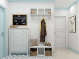 Pasillos y vestíbulos de estilo  de Ekaterina Donde Design