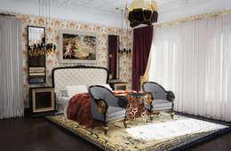 Спальня в классическом стиле: Спальни в . Автор – Настасья Евглевская