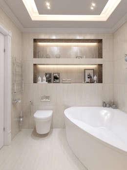 Завтрак у Тиффани: Ванные комнаты в . Автор – GraniStudio