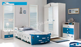 YILDIZ MOBİLYA – Denizci genç odası: modern tarz Çocuk Odası