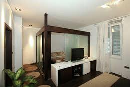 appartamento privato ad Abbazia: Camera da letto in stile in stile Minimalista di Studio-a29