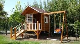 şirin home ahşap ev – adaege  children  house: klasik tarz tarz Bahçe