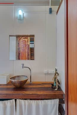 rustic Bathroom by Ferraro Habitat