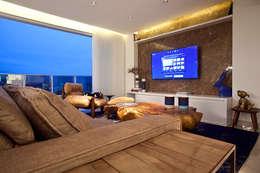 Sala de estar  por STUDIO ANDRE LENZA