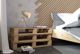 industrial Bedroom by Seryjny Projektant