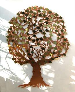 Memory Tree wall sculpture:  Garden  by Metallic Garden