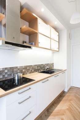 projekt mieszkania Cat Inside Projektowanie Wnętrz: styl , w kategorii Kuchnia zaprojektowany przez Cat Inside Projektowanie Wnętrz