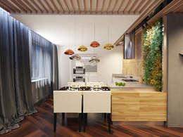 1 комнатная квартира студия для молодого человека: Кухни в . Автор – D+ | интерьерное бюро